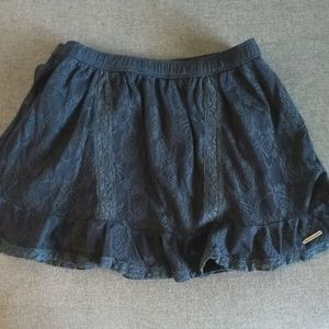 Abercrombie & Fitch Navy Blue Lace Mini Skirt - M